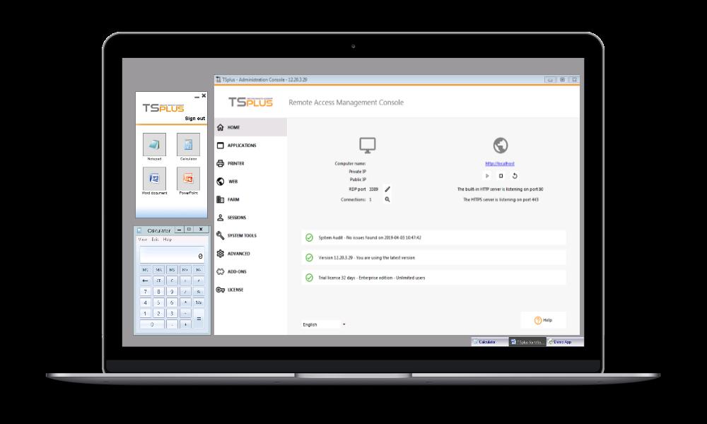 TsPlus - Terminal server and remote desktop - software for